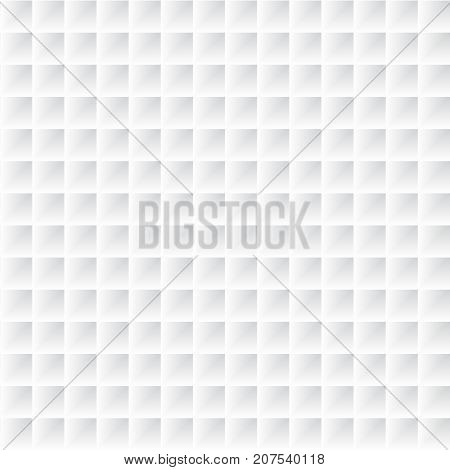 Abstract geometric shelf three dimensional square channel pattern background white and gray color Vector illustration