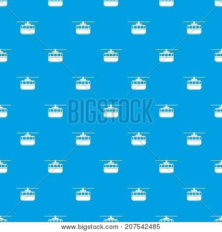 Funicular pattern repeat seamless in blue color for any design. Vector geometric illustration