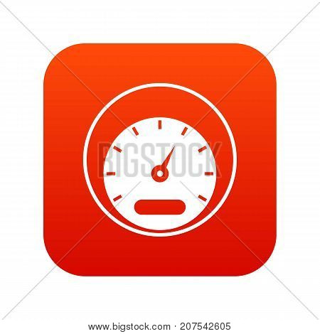 Speedometer icon digital red for any design isolated on white vector illustration