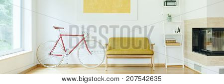 Bicycle Next To Sofa