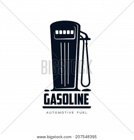 vector oil fueling station, gasoline simple flat icon pictogram isolated on a white background. Gas oil fuel, energy power industry symbol, sign