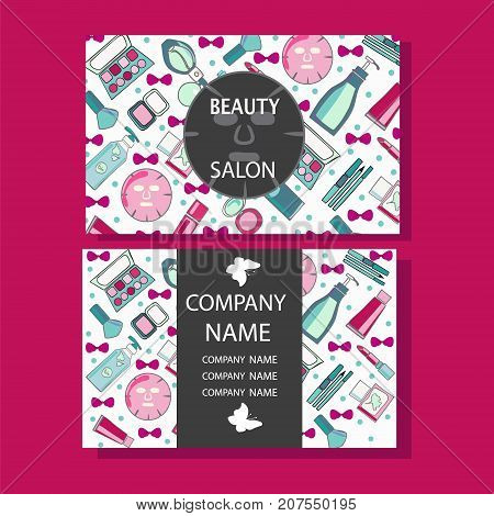 vector beauty salon beauty makeup care cute design of business cards for beauty salon