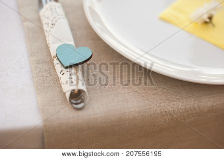 Table appointments for a dinner of lovers
