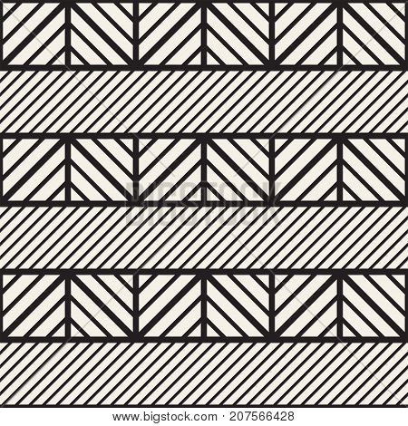 Vector seamless black and white trendy pattern. Modern stylish repeating texture. Repeating geometric lattice