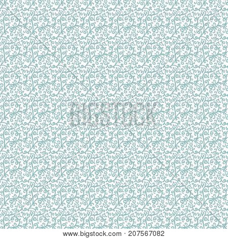 Blue Floral Vector Seamless Pattern