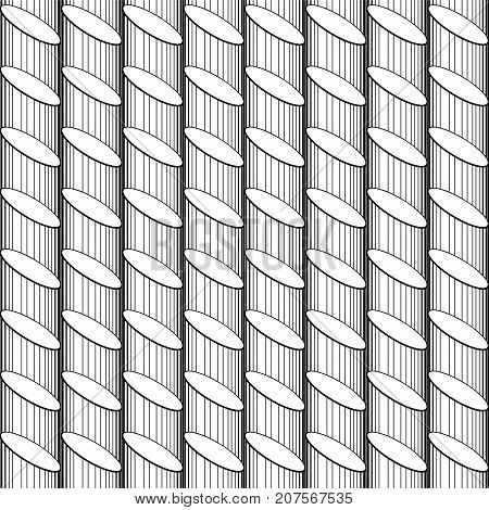 Vector Abstract Seamless Pattern - Linear Background.
