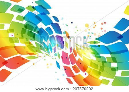 Colorful abstract background, multicolored and white, vector illustration