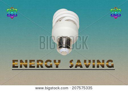 Energy saving advertisement - illustration based on energy saving lamp