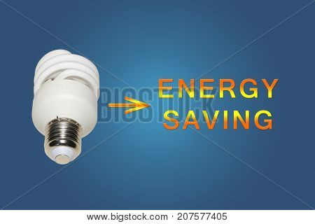 Energy saving advertisement - illustrations with energy saving lamp