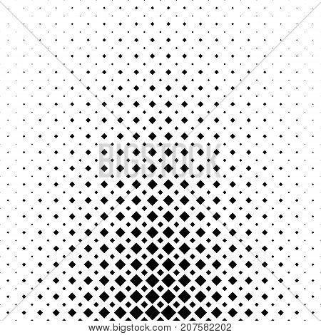 Abstract black and white square pattern background - monochrome geometrical vector graphic from diagonal squares