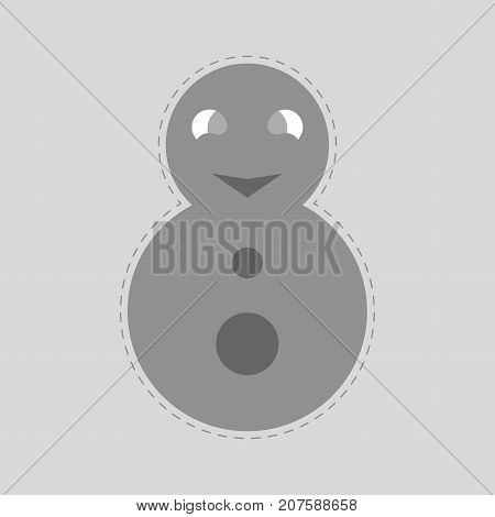 matryoshka. gray russian doll. grey roly-poly toy. abstract monochrome background. vector illustration.