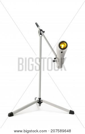 medical supply which is warming up light on a white background