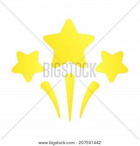 Stars burst. Shooting yellow stars. Vector label with explosion stars. Celebration icon.