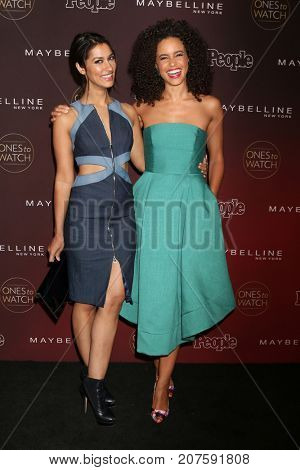 LOS ANGELES - OCT 4:  Janina Gavankar, Parisa Fitz-Henley at the 2017 People's Ones To Watch at the NeueHouse Hollywood on October 4, 2017 in Los Angeles, CA