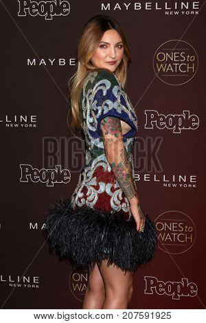LOS ANGELES - OCT 4:  Julia Michaels at the 2017 People's Ones To Watch at the NeueHouse Hollywood on October 4, 2017 in Los Angeles, CA