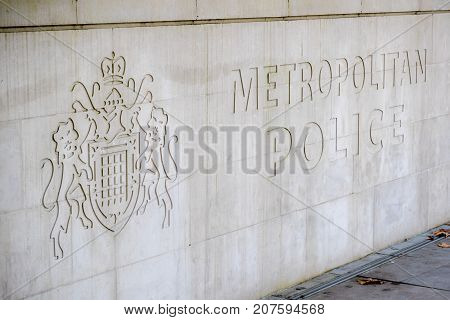 London 28th September 2017:-New Scotland Yard headquarters of the Metropolitan Police Force