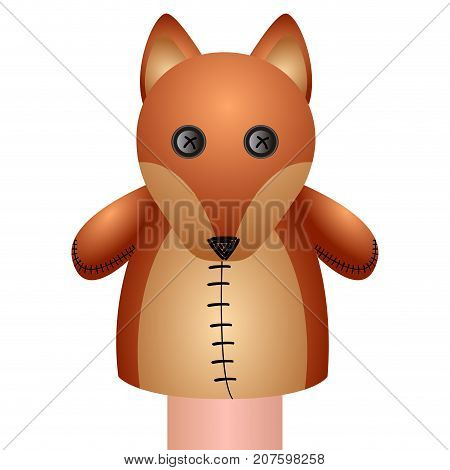 Isolated Fox Puppet