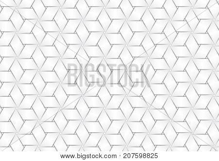 Vector Seamless Pattern Of White Braided Paper Strips.