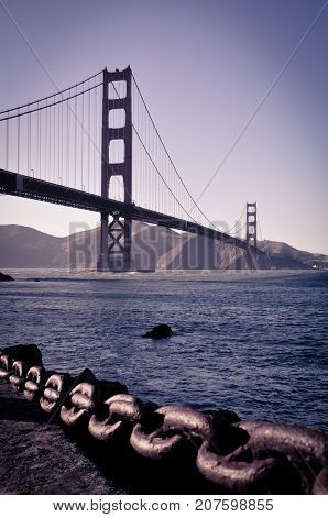 The magnificent Palace of Fine Art of San Francisco (California, USA) set at nightfall