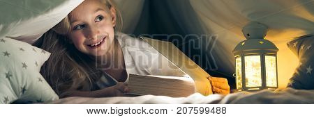 Girl Under The Covers Reading Book