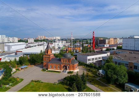 Territory of the Sergius Church. Moscow. View from above.