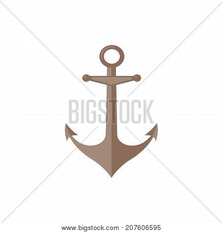 Flat style ship bell icon, symbol, decoration element, vector illustration isolated on white background. Flat style cartoon illustration of traditional ship, sailboat bell