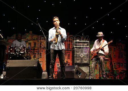 LVIL, UKRAINE - JUNE 4: Jeff Lorber Fusion in concert during Alfa Jazz Festival on June 4, 2011 in Lviv, Ukraine.