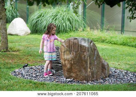 TRENTON, NJ - JUNE 17, 2017: Founded in 1992 by American artist Seward Johnson the Grounds for Sculpture is an outdoor sculpture park