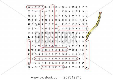 Finding A Healthy Lifestyle Word Search Puzzle