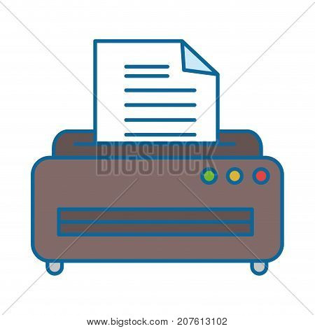 Printer Machine Isolated Icon