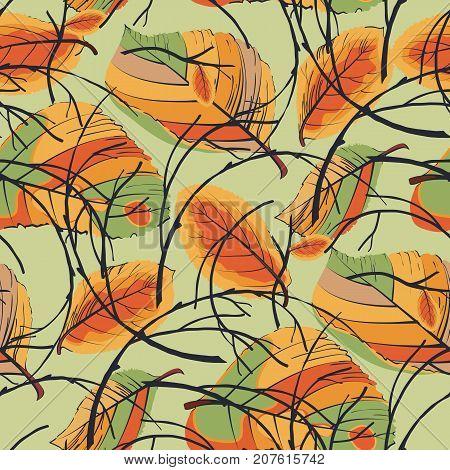 Wreath Of Autumn Leaves Seamless