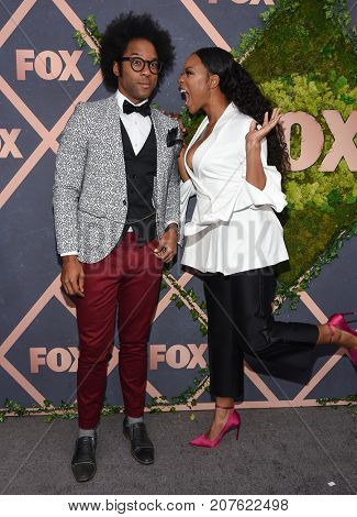 LOS ANGELES - SEP 25:  Johnathan Fernandez and Michelle Mitchenor arrives for the FOX Fall Party on September 25, 2017 in West Hollywood, CA