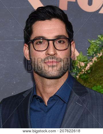 LOS ANGELES - SEP 25:  Tom Ellis arrives for the FOX Fall Party on September 25, 2017 in West Hollywood, CA