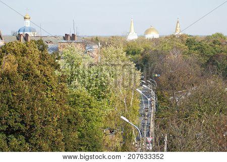 View of the city Chernigov. City Panorama. Ukraine