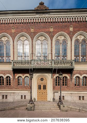 Facade of House of Nobility in Helsinki, Finland