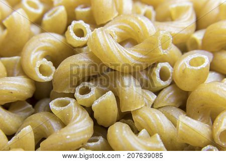 Close Up Of Whole Wheat Elbow Macaroni