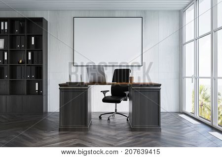 White Wood Ceo Office Interior, Poster