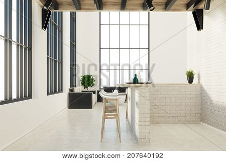 Modern Kitchen And A Dining Room