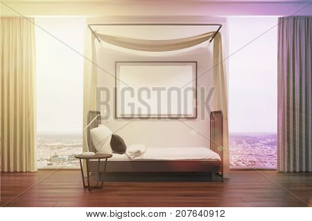 White Bedroom With A Poster, Side Toned