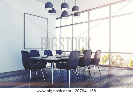 Dining Room, Gray Chairs, Corner Toned