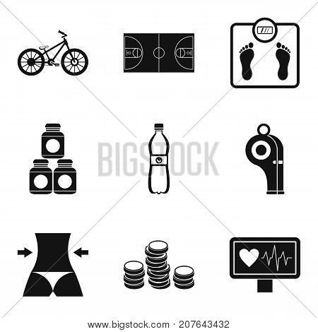 Sport tactic icons set. Simple set of 9 sport tactic vector icons for web isolated on white background