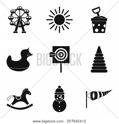 Weather for game icons set. Simple set of 9 weather for game vector icons for web isolated on white background