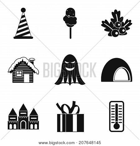 Country fun icons set. Simple set of 9 country fun vector icons for web isolated on white background