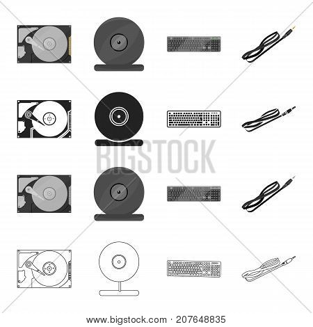 Attributes, computer, systems and other  icon in cartoon style.Communication, tools, equipment, icons in set collection