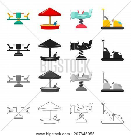 Carousel, rest, holiday and other web icon in cartoon style.Airplane, car, entertainment icons in set collection.
