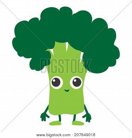 Broccoli icon. Cartoon illustration of broccoli vector icon for web