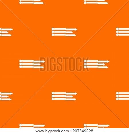 Infographic arrows pattern repeat seamless in orange color for any design. Vector geometric illustration
