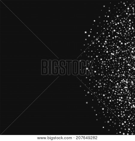 Amazing Falling Stars. Right Semicircle With Amazing Falling Stars On Black Background. Dazzling Vec