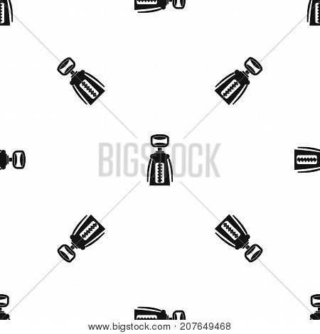 Modern corkscrew pattern repeat seamless in black color for any design. Vector geometric illustration