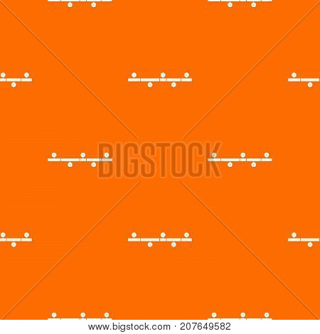 Timeline infographic pattern repeat seamless in orange color for any design. Vector geometric illustration